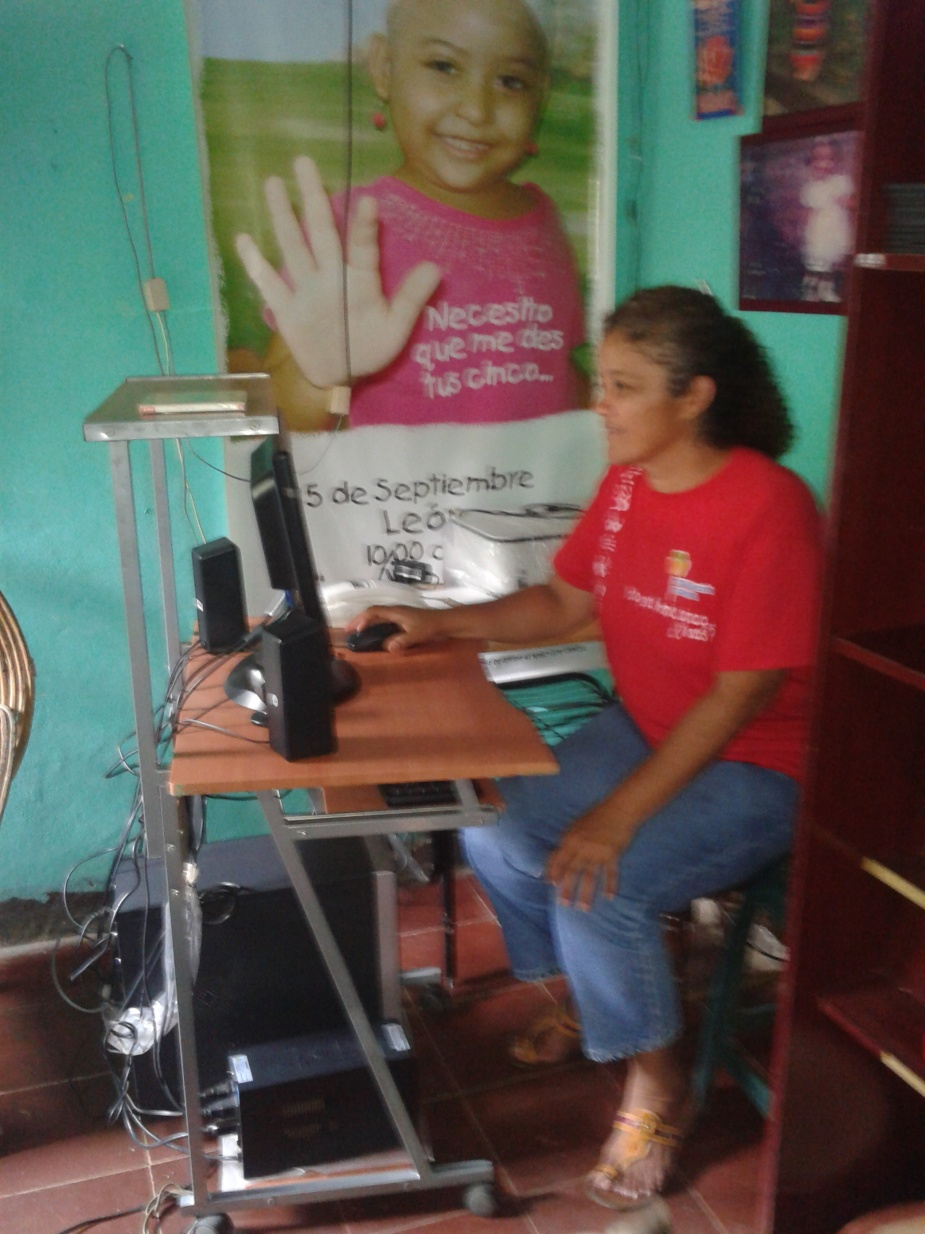 Maria at the office