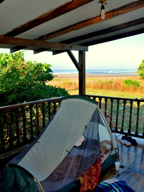 Camping on the balcony